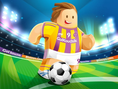 Untitled 1 player soccer football character design illustration