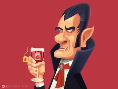 Dracula vampire blood count dracula dracula vector charachter design illustration