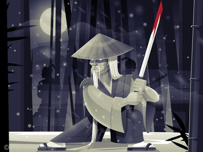 Samurai vector warrior samurai design japan charachter design illustration
