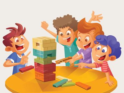 Play Time! happy boy play kids design charachter design illustration