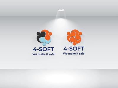 4 - Soft we make it safe logo design icon illustration branding typography graphicdesign minimal logo logotype we make it safe 4soft