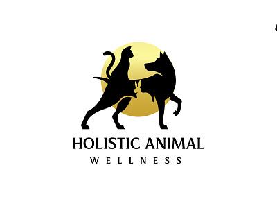 Holistic animal wellness logo icon graphicdesign typography branding logotype illustration design minimal logo animal holictic