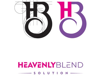 Heavenly Blend Solution logo design minimal icon graphicdesign typography logotype illustration logo design branding logodesign solution