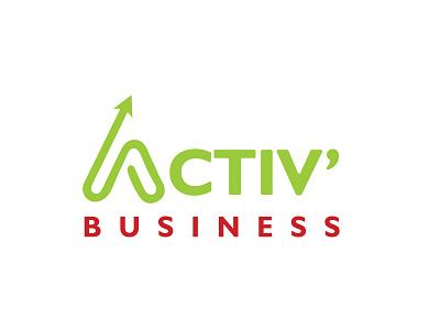 Activ' Business professionallogodesign minimalistlogodeign minimal icon graphicdesign illustration typography logotype logo branding animation ui