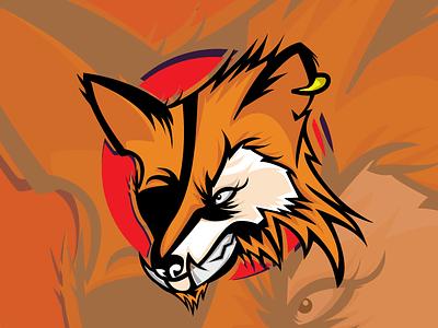 FOX animals piratesfox pirates fox illustration fox animal art animal logo vector mascotlogo logo illustration design
