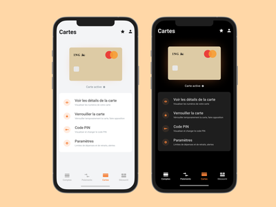 ING Mobile App ing money investment bank company application ui ux app finance banking