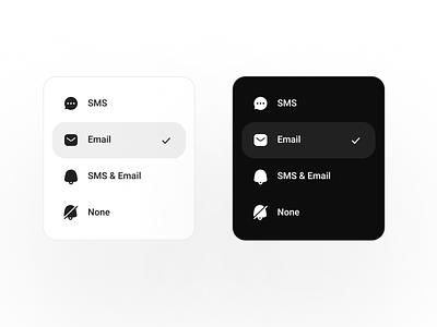 UI selector selector saas interface element mobile app web app design app ux ui