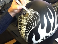 Painted Motorcycle Helmet