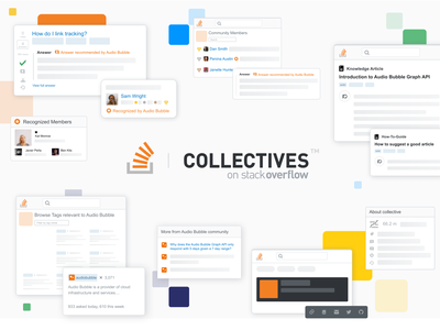 Collectives on Stack Overflow community user card leaderboard users article design product design graphic design website ux ui