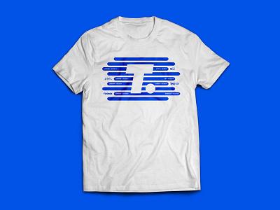 T-Shirt Graphic Concept blue shapes graphic tshirt t-shirt