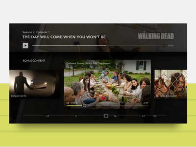 TV App Concept 2/2 design 10ft player video ui app design tv app