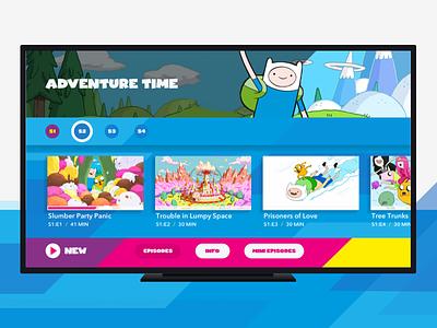 Kids TV App media colourful kids branding shapes app design ui 10ft video