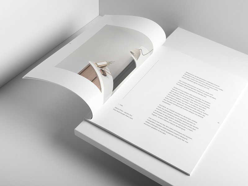 Minimal Portfolio Layout kinfolk spreads lifestyle magazine print design minimalist typography layout graphic design editorial