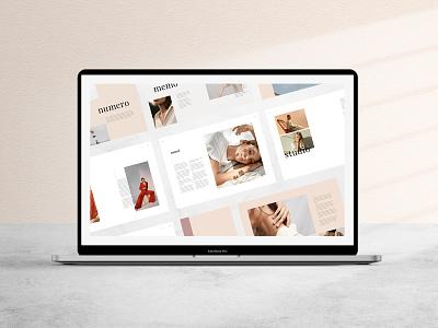 Numero Magazine indesign adobe catalog template print template lookbook template creativemarket catalog lookbook spreads magazine print design minimalist typography graphic design editorial