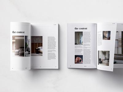 Interior Magazine architecture interior architecture interior design layout print design typography minimalist graphic design editorial