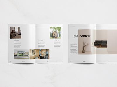 Layout Teknik architecture architect interior template design templates indesign design spreads magazine print design typography layout minimalist graphic design editorial