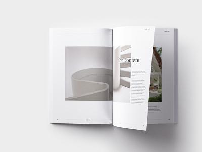 Clean Layout architecture interior template print indesign design lifestyle magazine print design typography layout minimalist graphic design editorial