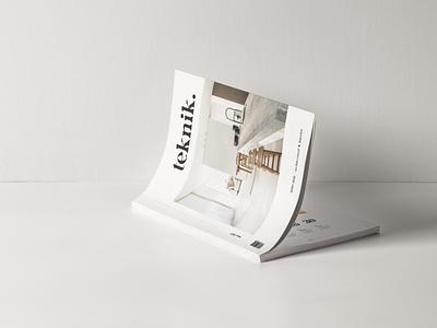 Teknik Cover architecture interior template design print template indesign design spreads magazine print design typography layout minimalist graphic design editorial