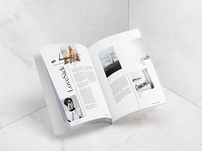 Magazine Spreads cereal kinfolk spreads magazine editorial lookbook print design graphic design typography layout minimalist