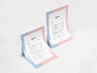Madelynn Invoice Freebie editorial graphic design minimalist layout design free template print invoice freebie