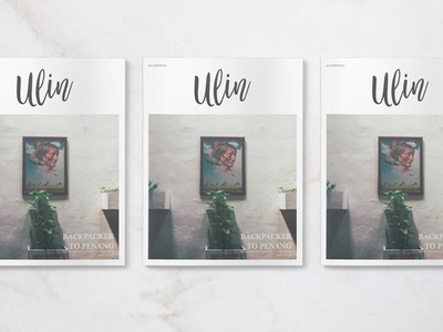 Ulin Magazine Issue 001 Cover minimalist layout typography graphic design print design travel editorial revista magazine kinfolk cereal
