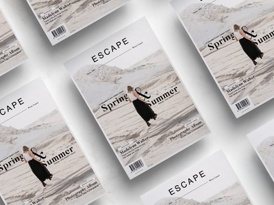 Escape Editorial layout graphic design lifestyle editorial magazine kinfolk cereal typography spreads print design minimalist