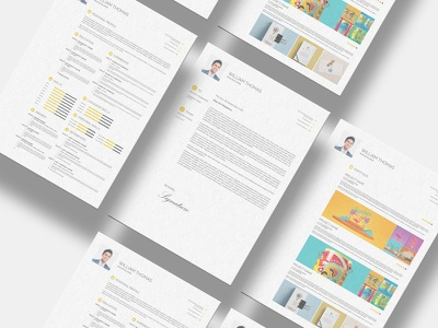 Freebie CV Resume Set Template minimalist graphic design portfolio cv print indesign psd resume template freebies freebie free