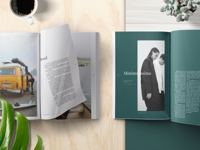Emily Editorial Magazine minimalist layout typography graphic design print design lifestyle editorial magazine spreads kinfolk cereal