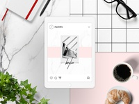 Brylee Social Media project photo personal image color collection clean feminime ux ui instagram social media