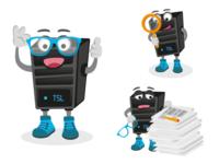 Server as mascot