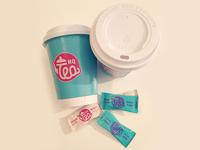 Tea cup and sugar bag design (photo)