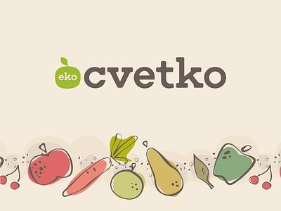 Visual identity for Eko Cvetko typo pattern illustration identity logo