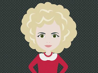 Tanja woman gift portrait character vector