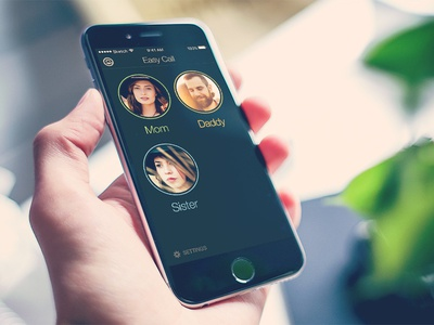 Easy Call - Quick and Simple Calls iphone call design application