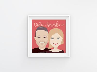 Vibor & Snješka couple character design vector gift portrait