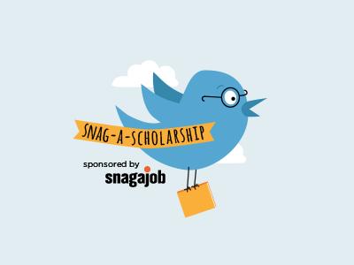 Snag-A-Scholarship  hand drawn logo bird twitter snagajob