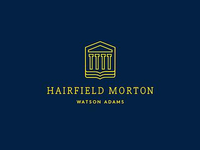 Hairfield Morton Watson Adams Law Firm Logo columns book law