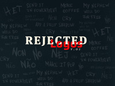 Reject dont no client from hell brand logofolio logo