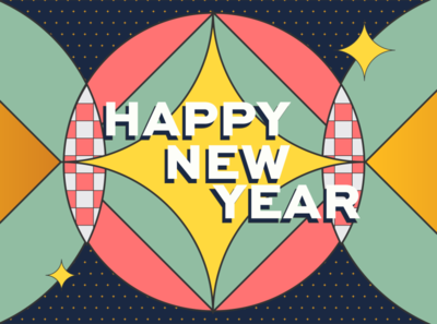 Styleframe New Year animation motion geometric texture styleframe 2020 happy new year