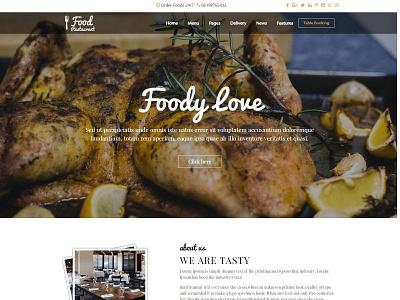 Restaurant PSD to Responsive HTML Website Design design website bootstrap responsive website css3 css html5 html webdesign