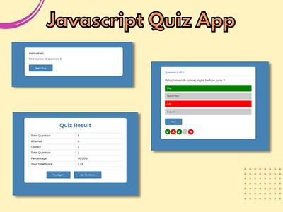 Javascript Quiz App quiz app javascript website responsive website webdesign html5 css3 design bootstrap