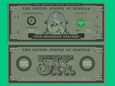 Bertie Bucks currency money design branding money