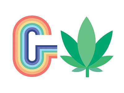 Icons for Lease Buddies iconography marijuana rainbow icons