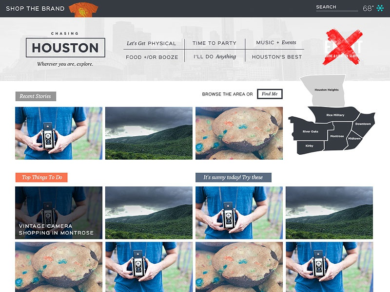 """Chasing Houston   HomePage """"Un""""Fucking It Up user experience ux ui home page"""