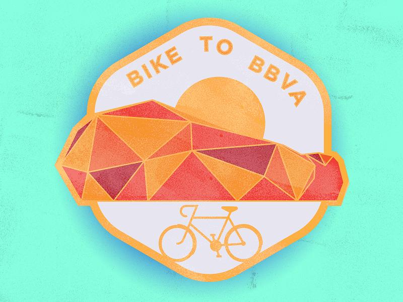 BBVA Badge for Bike Ride // Concept bike logo branding badge