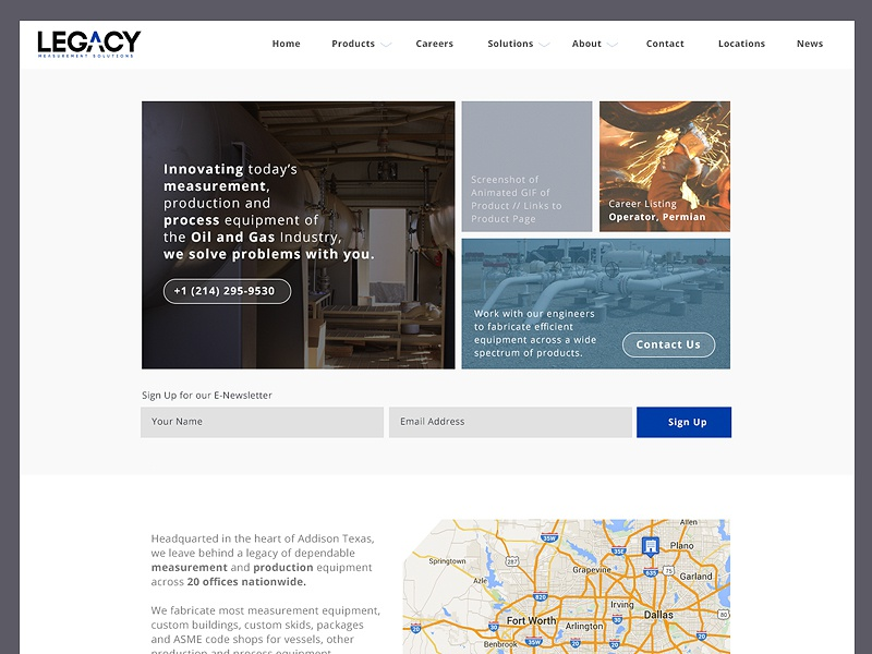 Made It Into the Oil and Gas Industry branding digital marketing homepage oil and gas