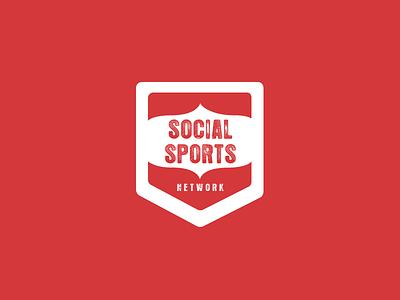 Social Sports Network badges logos branding logo