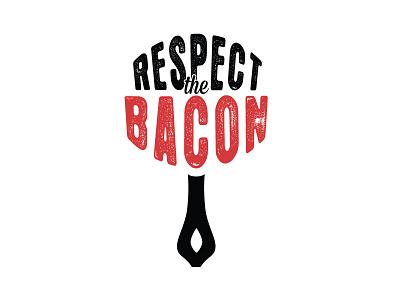 Respect The Bacon badges branding logos