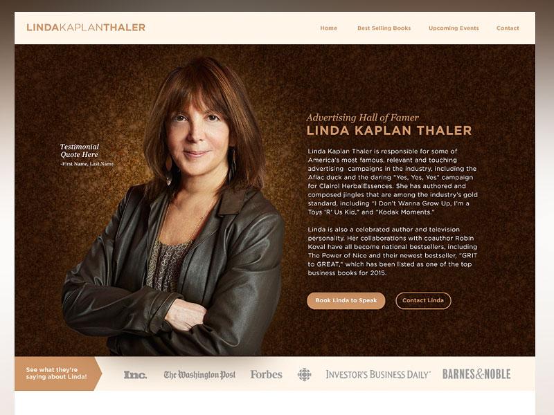 Linda Kaplan Thaler | Personal Website home page best sellers authors branding personal branding