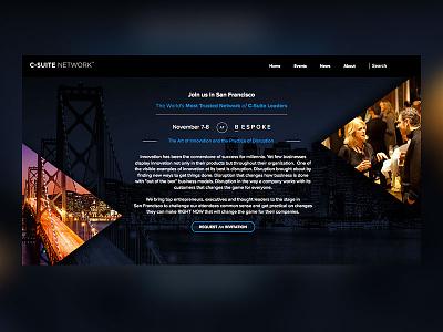 C-Suite Conference Splash Page branding splash page website conference